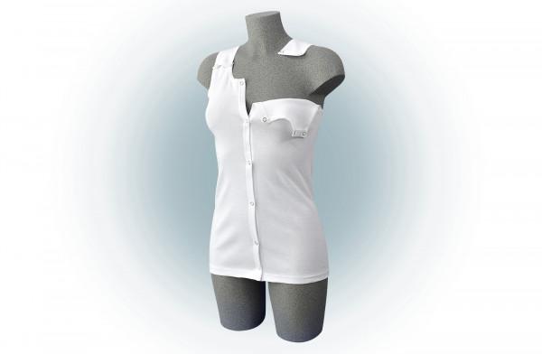 Mina - weißes Damen-Unterhemd